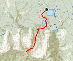East Beckwith Mountain Summit Trail Map