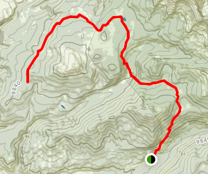 Tellurium Lake Trail Map