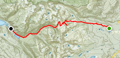 Beaver Reservoir to Monarch Lake Via Sawtooth Mountain Map
