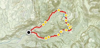 Mount Zirkel Loop Trail Map