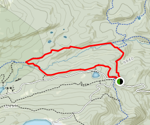 Sourdough Trail to South St. Vrain Trail Loop Map