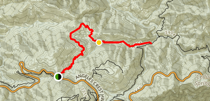 Cooper Canyon via Cloudburst Summit Map