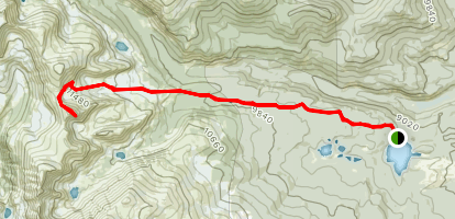 Beaver Creek Trail to Sawtooth Mountain Map