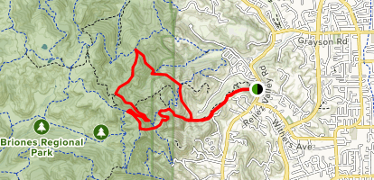 Blue Oak Trail to Spengler Trail Loop Map