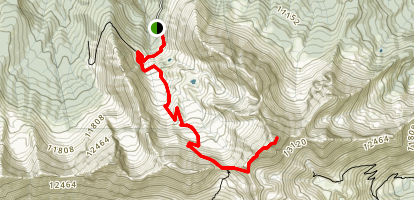 Rock of Ages Trail to Wilson Peak Map