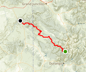 Durango Mountain to Moab Map