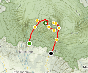 Mount Kilimanjaro: Machame Route Map