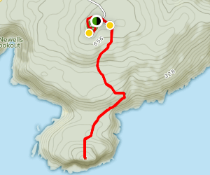 Stony Hill and Peak Head Map
