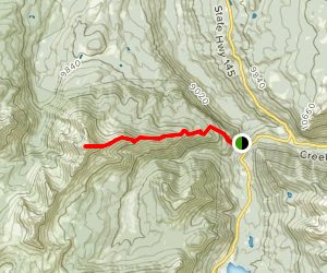 Sunshine Mountain East Ridge Map
