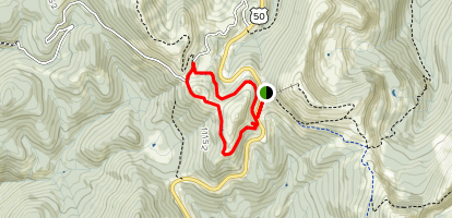 Old Monarch Pass Loop Map
