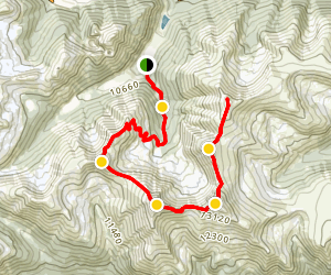 Engelmann Peak Trail Map