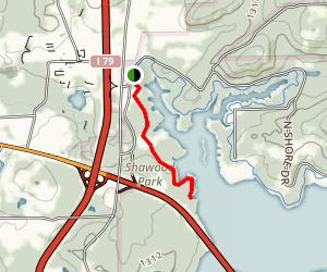 Moraine Trail and Swim Map