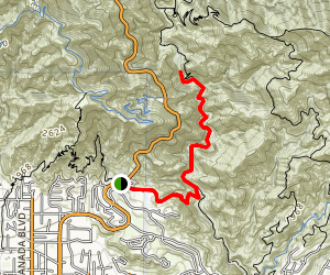 Gould Mesa Road: Angeles Crest Hwy to Paul Little Picnic Site  Map