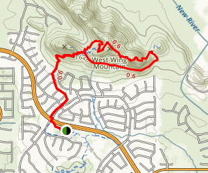 Westwing Mountain Loop Map