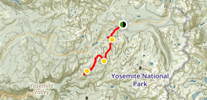John Muir Trail: Cathedral Lakes Trail to Clouds Rest Map
