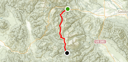The Colorado Trail: US-50 to Marshall Pass Map