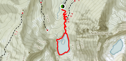 Lake Agnes Trail Map