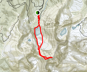 Mount Richthofen Summit Trail Map