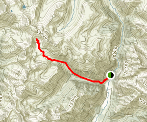 Eureka Gulch to Lake Emma Map