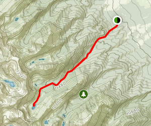 Horn Creek to Horn Lakes Map