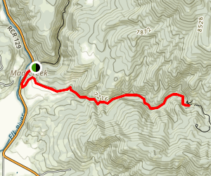 Hot Springs to Mad Creek to Red Dirt Trail Loop Map
