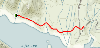 Rifle Gap Reservoir Map
