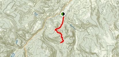 Tewksberry Trail to Meadow Pass Map