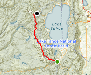 Echo Lake to Alpine Meadow Map