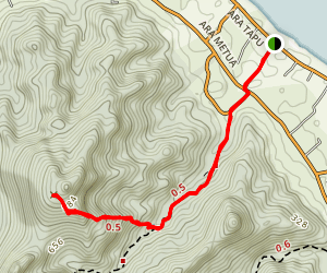 Ikurangi Ascent Map