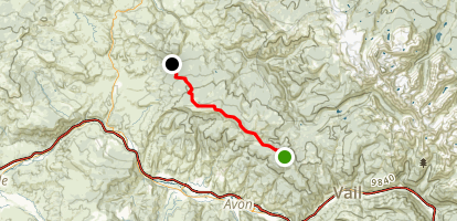 Red & White Mountain Map