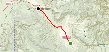 Uncompahgre Plateau Trail Map