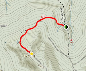 Red Hill Fire Tower Trail Map