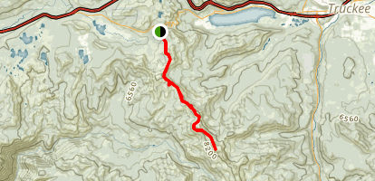 Benson Hut and Tinkers Knob Trail Map