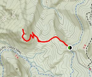 Sam Knob Trail Map