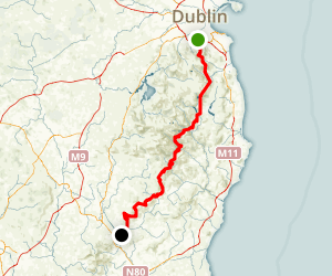 The Complete Wicklow Way Map
