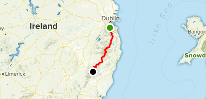 Wicklow Way (Complete) Map