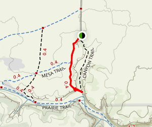 Vogel Canyon - Overlook Trail Map