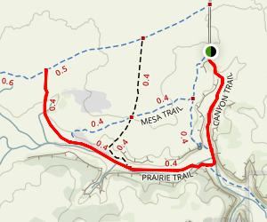 Vogel Canyon - Prairie Trail Map