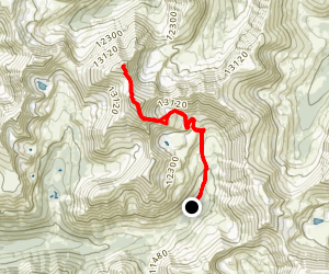 Grays and Torreys Peak Trail from Snoe Basin Mine Map