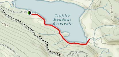 Trujillo Meadows Reservoir Map