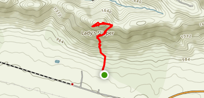 Lady's Slipper Peak Map