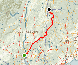 Appalachian Trail: Hudson River to Mount Washington State Forest Map