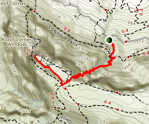 Platteklip Gorge to Upper Cable Station Map