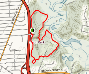 Tryon Park Loop Trail Map