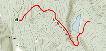 Huggins Lake Trail Map