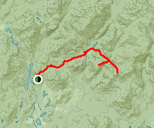Redfield and Cliff via Upper Works Map