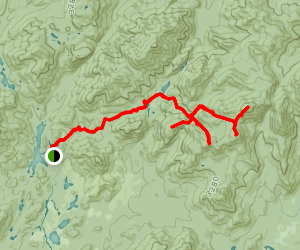 Marcy, Skylight, Redfield and Cliff via Calamity Brook Trail Map