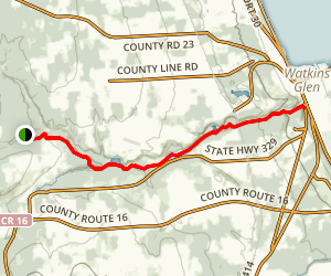 Finger Lakes Trail to South Rim Trail Map