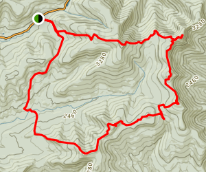 Slide Mountain Wilderness Loop Map