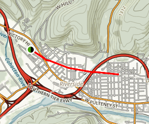 Corning Bike Path Map